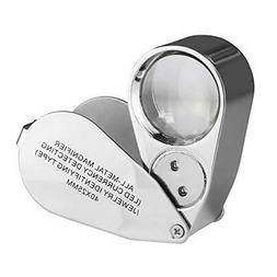 Beileshi 40X Magnifier with LED + UV Illuminated Jeweler Len