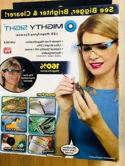 Mighty Sight Led Magnifying Eyewear Glasses  Original Box As