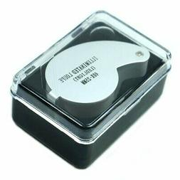 Mini Illuminated 40X - 25mm Jewelers Loupe / Magnifier with