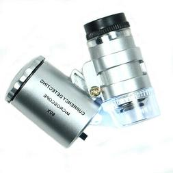 Veroda Mini 60X Pocket Microscope Loupe Jeweller Jewelry Mag