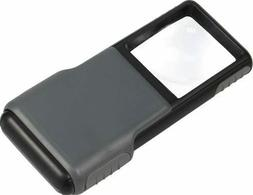 MiniBrite LED Lighted Pocket Aspheric 5x Magnifier with Buil