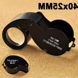 new 40x 25mm coin jewelry eye loupe