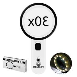 NEW 40X 25mm Coin Jewelry Eye Loupe Magnifier LED Light Jewe