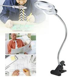 New LED Large Lens Lighted Lamp Top Desk Magnifier Magnifyin