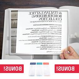 page rigid magnifying lens magnification