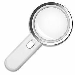 Fancii 5X High Power LED Magnifying Glass with Light, Large