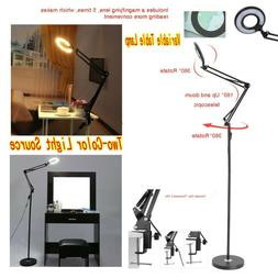 LED Diopter Magnifier Table and Magnifying Floor Lamp Desk T
