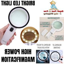 Professional Jumbo 20x Magnifying Glass With Bright LED Ligh