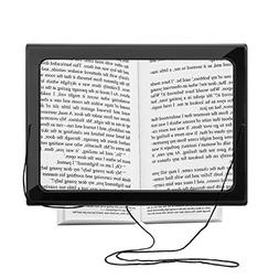 Reading Magnifier, SOONHUA Hands-Free 3X Magnifier Full-Page