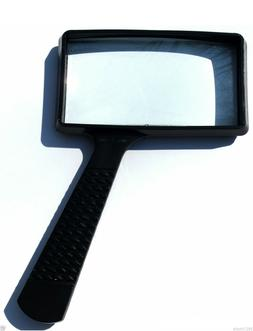 """LARGE 4x RECTANGLE MAGNIFYING GLASS NEW 4"""" x 2"""" MAGNIFIER"""
