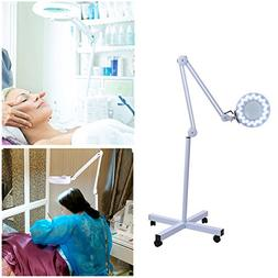 Salon Magnifier Lamp 5X Floor Lamp Rolling Stand Adjustable
