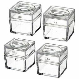 SE MB2345-4 Snap-On Magnifier Cubes with Interchangeable Lid