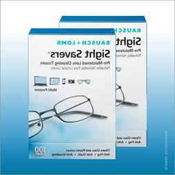 Bausch Lomb Sight Savers Lens Cleaning Tissues 2 Pack 100 Ea