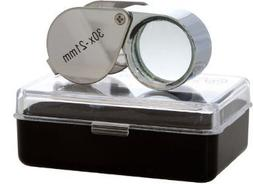 Togetherwe Silver 30x 21mm Jewelers Eye Loupe Magnifier Magn