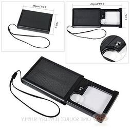 Slide-Out Pocket Magnifier Illuminated Magnifying Lens 4X Po
