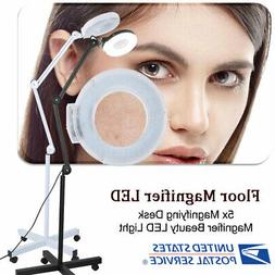 Stand Beauty Cosmetic Makeup 5x Magnifier Light Floor LED La