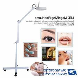Stand Beauty Cosmetic Makeup Magnifier Light Floor LED Magni