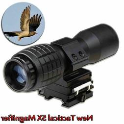 Tactical 5X Magnifier FTS Flip To Side For Eotech Aimopint S