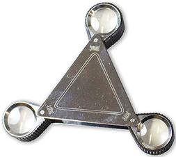 Sureview Triangular Shaped Magnifier With 3 Swiveling Loupes
