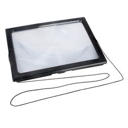 Triple Full Page Reading Magnifier with 4 LED Lights for Sen