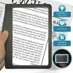 3X Large Ultra Bright LED Page Magnifier with 12 Anti-Glare