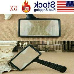 USA Rectangular 5X Magnifier Magnifying Glass Loupe For Read