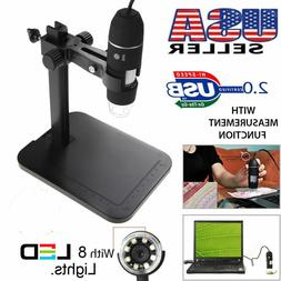 1000X 8 LED 2MP USB Digital Microscope EndoscopeMagnifier Ca