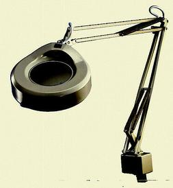 """Vintage Luxo Lamp KFM-1-A Magnifying Lamp, 45"""", 22W, Clamp-O"""