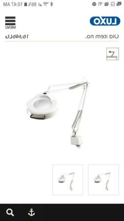 Vintage Luxo Magnifier Lamp Swing-arm Articulating Light Cla