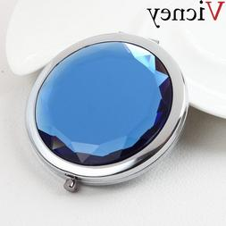 Vicney Women Cute elegant Makeup Mirror Portable Pocket Crys